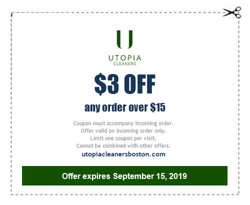 $3 off $15 coupon for dry cleaning and laundry service