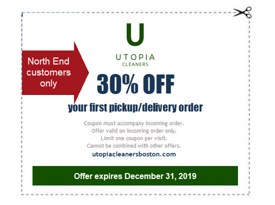 30% off pickup and delivery for North End customers