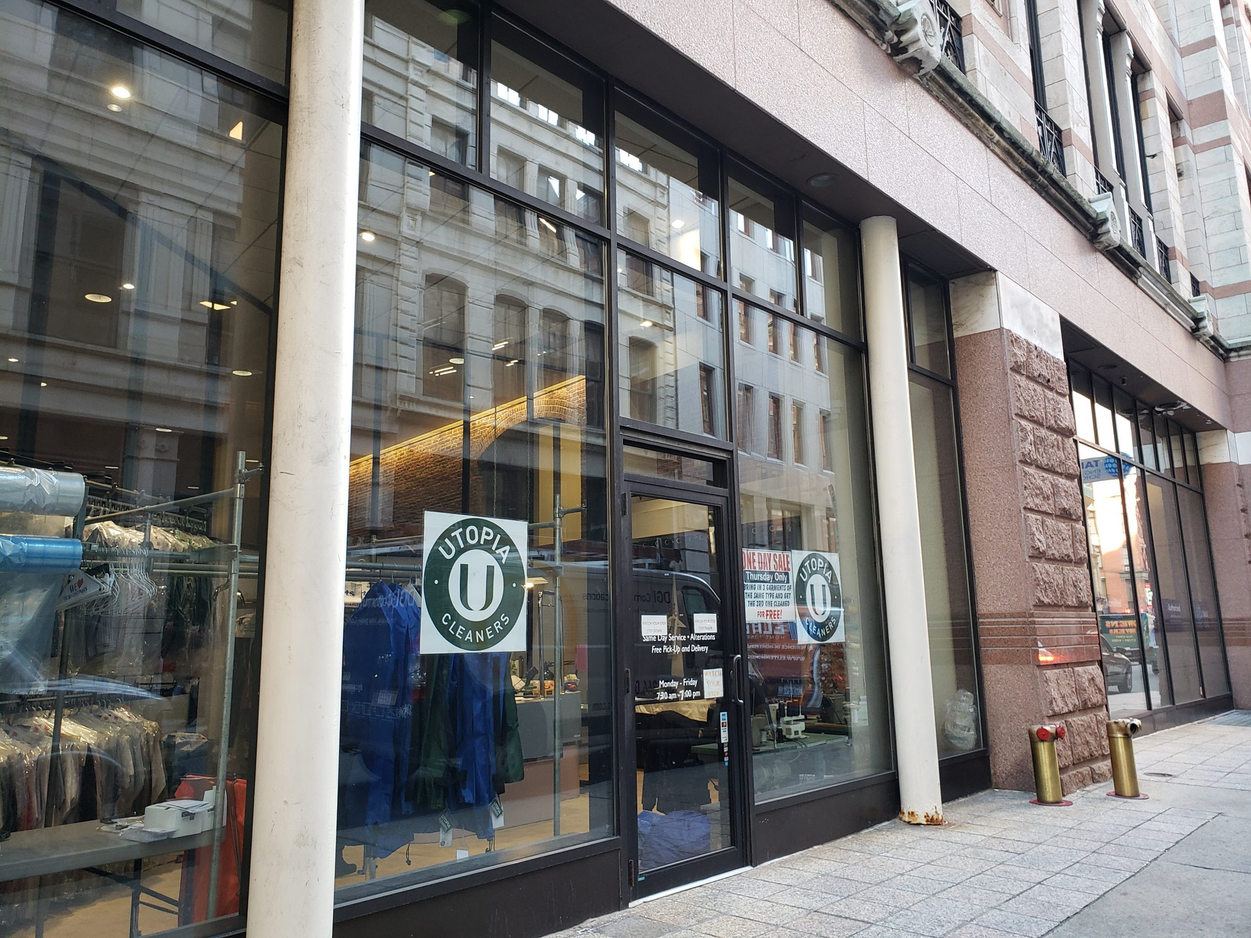 Utopia Cleaners, 99 Bedford Street, Boston downtown Financial District