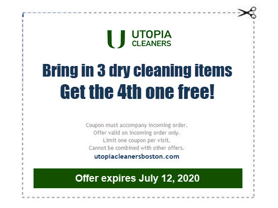 special offer coupon - 4th dry cleaning item free