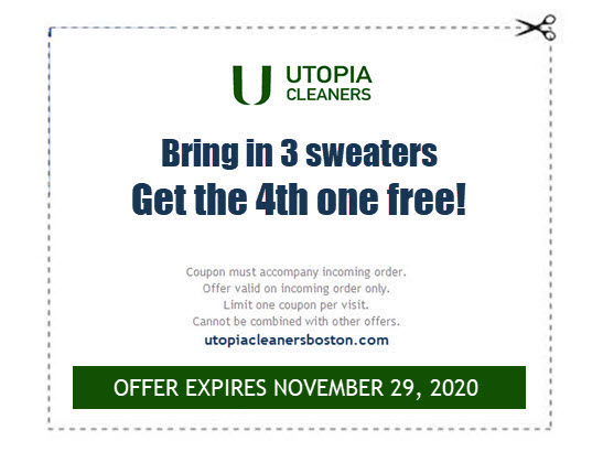 4th sweater free dry cleaning coupon