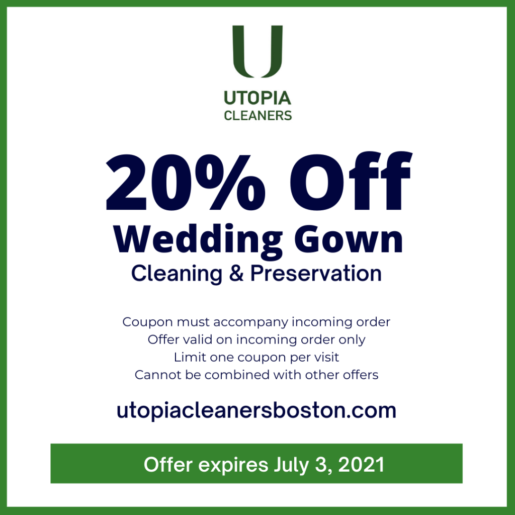 Utopia Cleaners Wedding Gown Cleaning Preservation Coupon