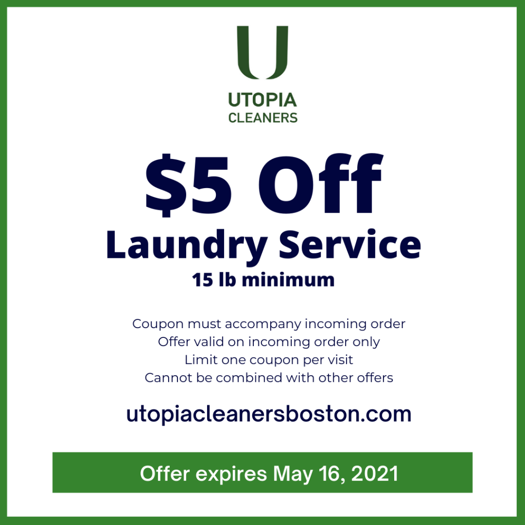 Utopia Cleaners coupon Laundry Wash and Fold