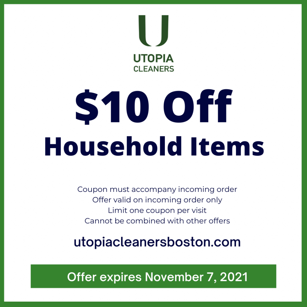 $10 off Household items - dry cleaner coupon